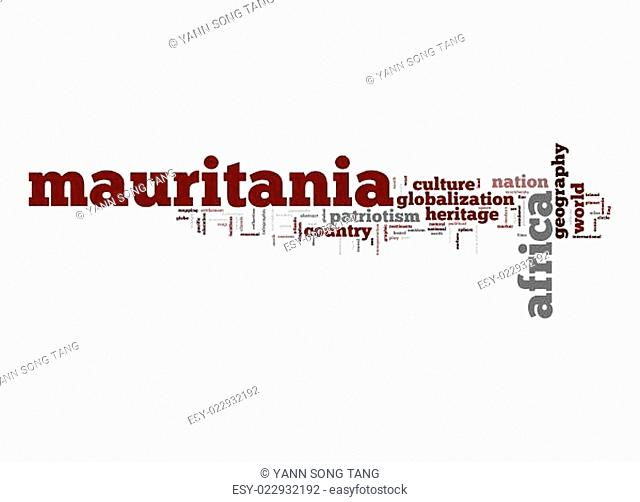 Mauritania word cloud