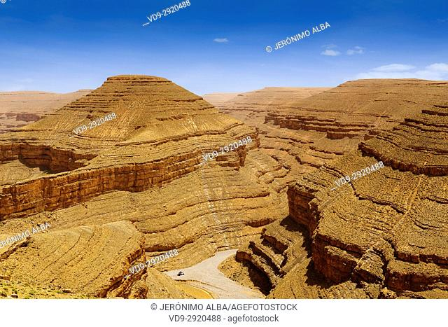 Landscape. Dades Valley, Dades Gorges, High Atlas. Morocco, Maghreb North Africa