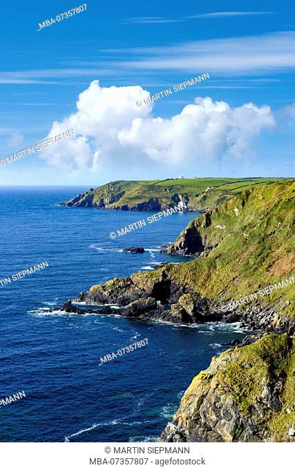 Hot Point and Bass Point, Lizard Peninsula, Cornwall, England, UK