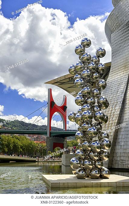 Tall Tree and the eye by Anish Kapoor, Bilbao, Biscay, Basque Country, Euskadi, Euskal Herria, Spain, Europe