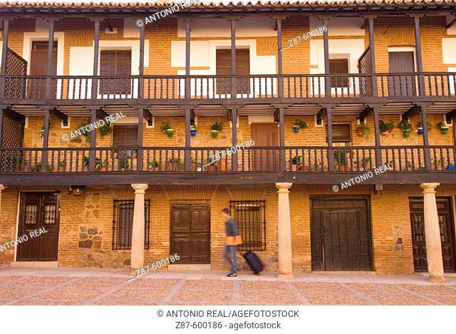 Plaza Mayor. San Carlos del Valle. Ciudad Real. Ruta de Don Quijote. Castilla-La Mancha, Spain