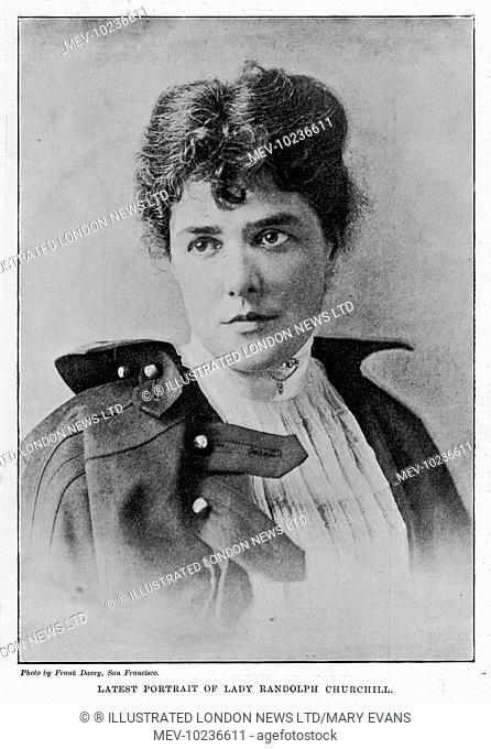 JENNIE JEROME, Lady Randolph Churchill, mother of Winston Churchill and wife of the Tory politician Randolph Churchill
