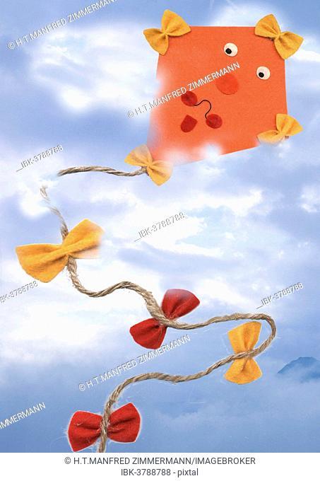 Paper kite flying in the sky
