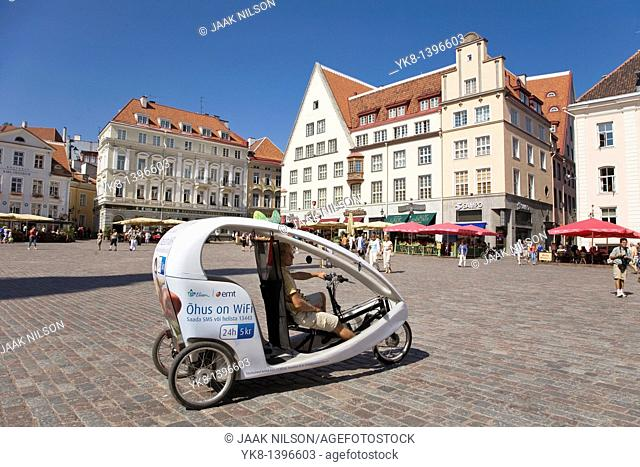 Velotaxi, Town Hall Square, Tallinn, Estonia, Europe