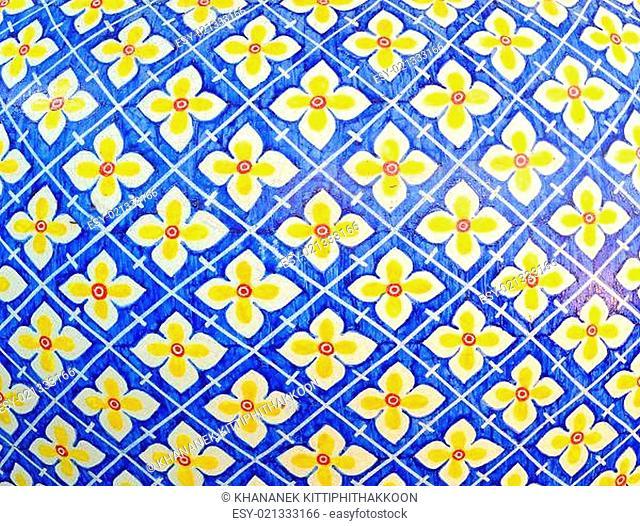 Seamless traditional mosaic pattern