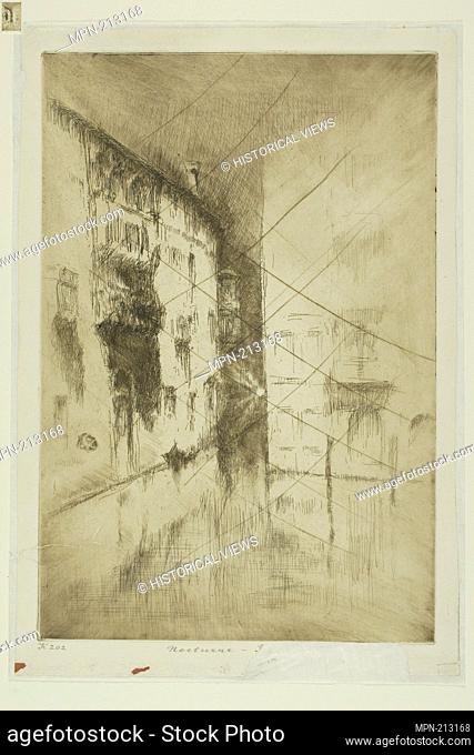 Nocturne: Palaces - 1879/80 - James McNeill Whistler American, 1834-1903 - Artist: James McNeill Whistler, Origin: United States, Date: 1878–1880