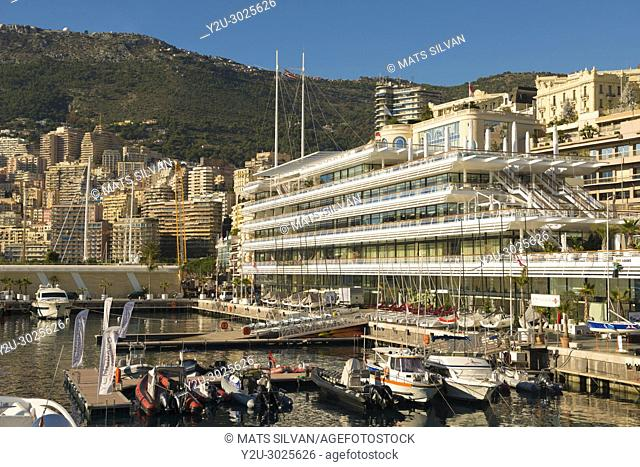 Cityscape and the Port with Yacht Club in Monte Carlo in Provence-Alpes-Côte d'Azur, Monaco