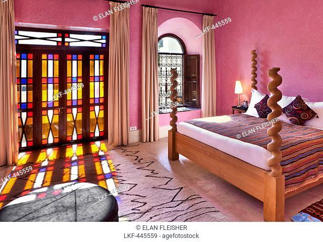 Bed in Room 20, El Fenn, Marrakech, Morocco