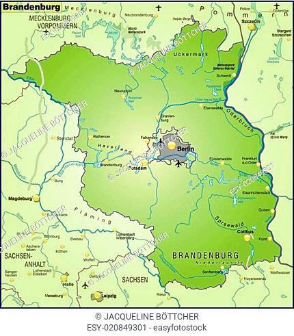 Karte Von Brandenburg Stock Photos And Images Agefotostock