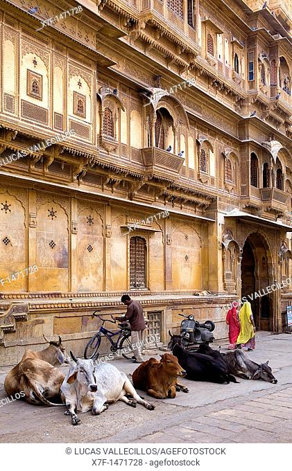 Patwon ki haveli, Jaisalmer, Rajasthan, India