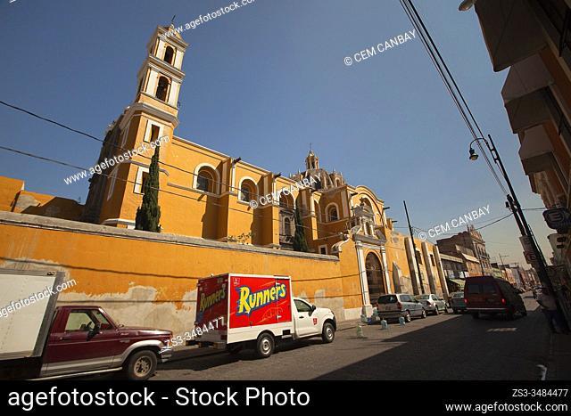 View to the Capilla De San Judas Tadeo church in the city center, Puebla, Puebla State, Mexico, Central America