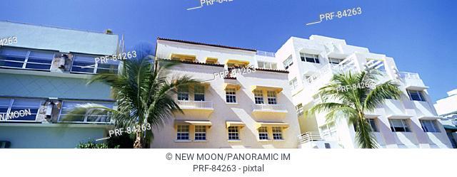 Art Deco Architecture Ocean Drive Miami Beach FL