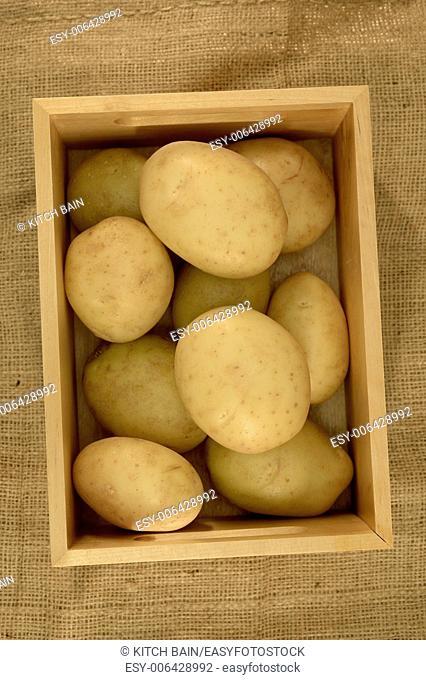 A close up shot of a fresh potatoes