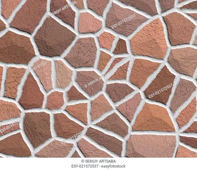 Cracked stone seamless background