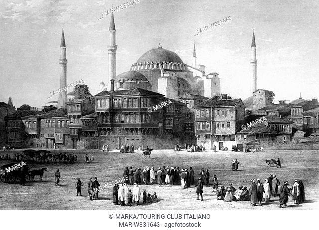 turchia, istanbul, moschea basilica santa sofia, 1930-40 // Turkey, Istanbul, Basilica of Saint Sofia Sofia, 1930-40