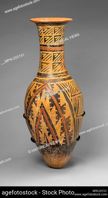 Urn Painted with a Geometric Textile-like Pattern - A.D. 1100/1500 - Carchi Carchi province, Ecuador - Artist: Carchi, Origin: Carchi, Date: 1100–1500