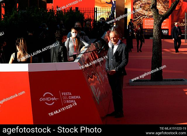 The writer Erri De Luca during the red carpet of film 'La legge del terremoto' at the 15th Rome Film Festival, Rome, ITALY-19-10-2020