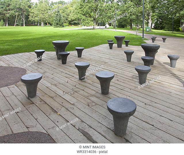 Chess Tables at a Park