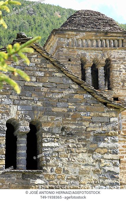 Tower of the Romanesque church - San Bartolome Mozarabic Gavín - Biescas - Serrablo - Alto Gallego - Province of Huesca - Aragon - Aragon Pyrenees - Spain
