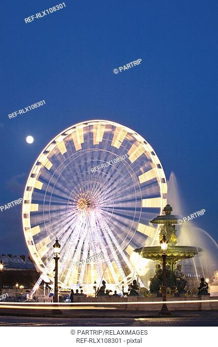 Big wheel and fountain, Place de la Concorde, Paris, France