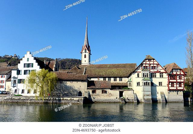 Blick auf Stein am Rhein nahe des Bodensees / View of Stein am Rhein near lake constance