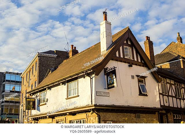 Kings Arms, historical building in York, North Lanarkshire, England, UK