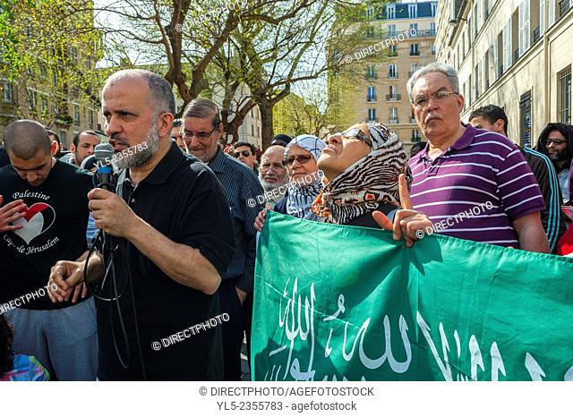 Paris, France, French Arabs Demonstrating against Islamophobia, Racism,