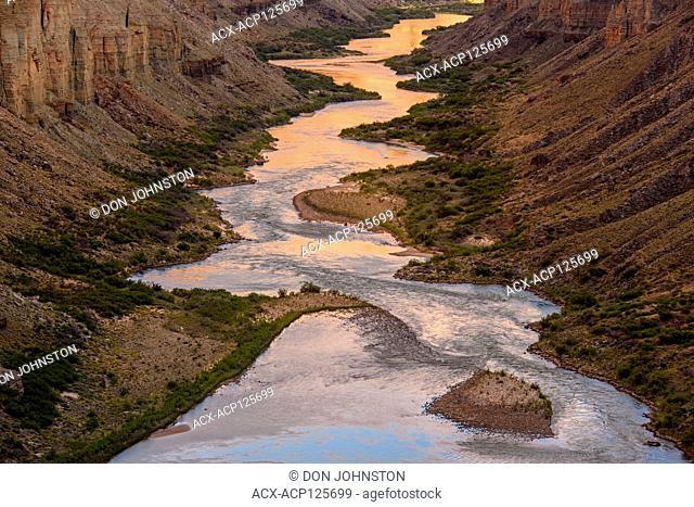 The Colorado River at Nankoweep near sunset, Grand Canyon National Park, Arizona, USA
