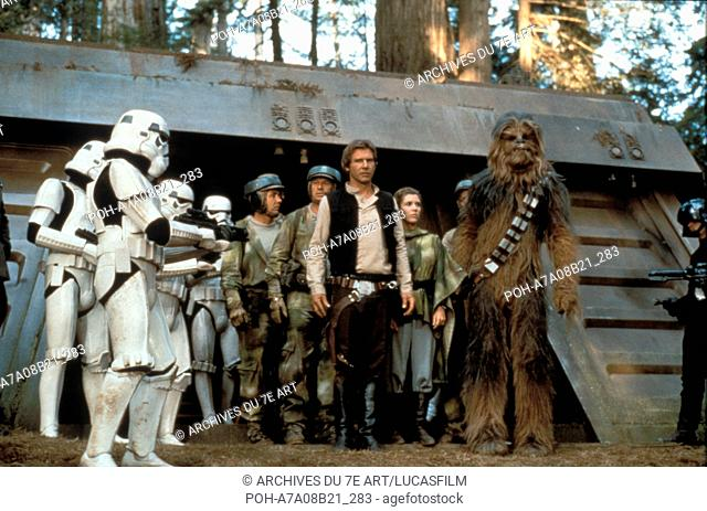 Star Wars: Episode VI, Return of the Jedi  Year : 1983 USA Harrison Ford, Carrie Fisher, Peter Mayhew,  Director: Richard Marquand