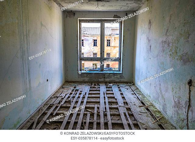 Inside the abandoned building in Daugavpils Fortress (also called Dinaburg Fortress) in Daugavpils city, Republic of Latvia
