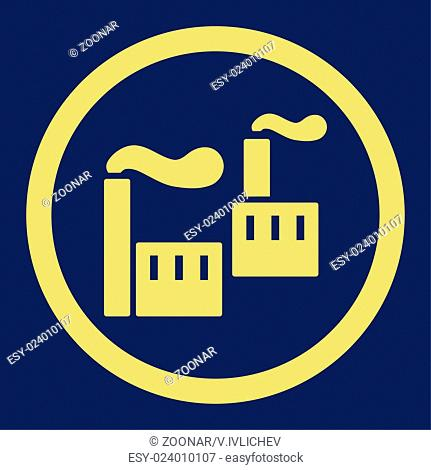 Industry flat yellow color rounded glyph icon