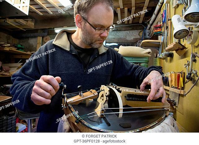 SEBASTIEN TOURNY, MAKER OF HURDY-GURDIES, LA CHATRE (36), GEORGE SAND'S BLACK VALLEY IN THE BERRY, FRANCE