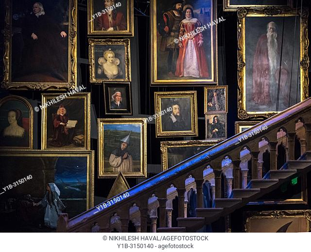 Staircase & Portraits, Making of Harry Potter, Warner Bros. Studio Tour, Leavesden, London, Staircase, Portraits