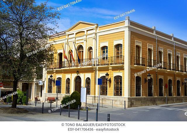 Quintanar de la Orden City hall by Saint James Way in Spain Toledo