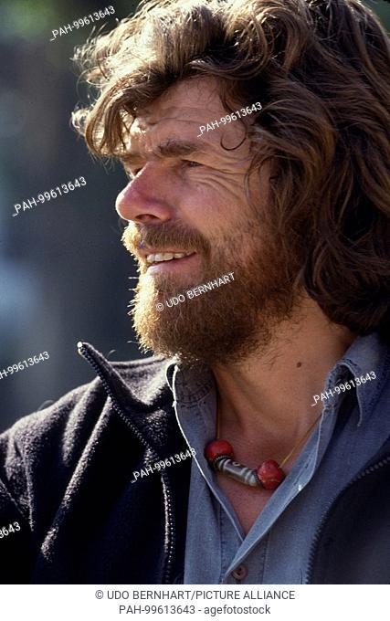 Mountaineer Legend Reinhold Messner on 25 October 1993 | usage worldwide. - /Pokhara/Nepal
