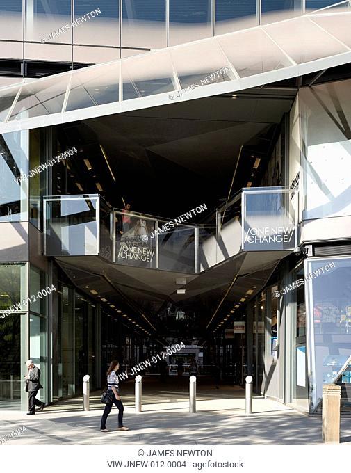 One New Change, Jean Nouvel, London, 2010, Entrance, JEAN NOUVEL, UNITED KINGDOM, Architect