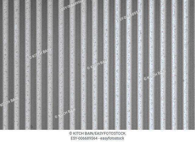 A close up shot of corrugatediron sheeting