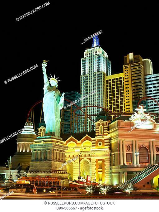 'new York, New York' Hotel & Casino, The Strip, Las Vegas, Nevada, Usa