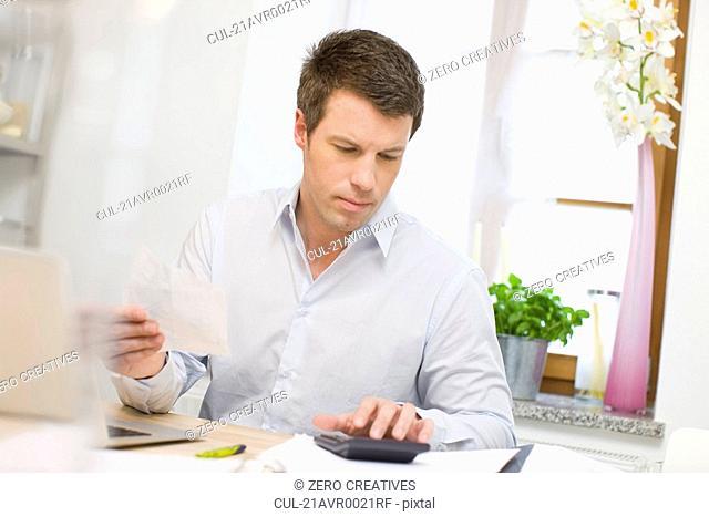 Man doing account stuff