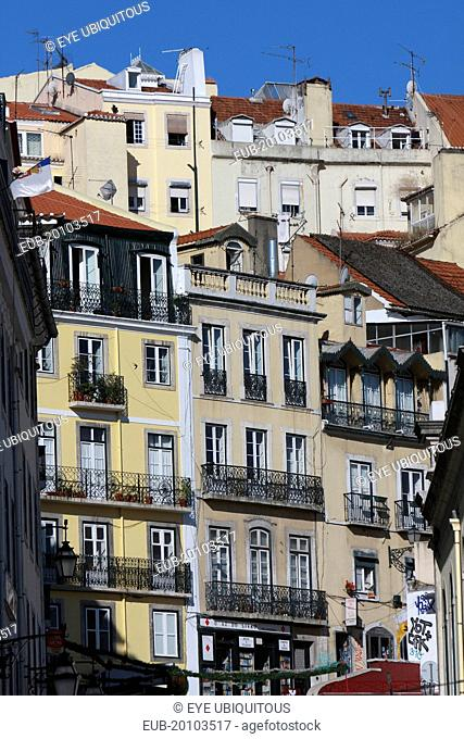 Apartments and town houses in the Chiado district
