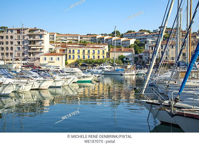 Mediterranean fishing port of Cassis, France,