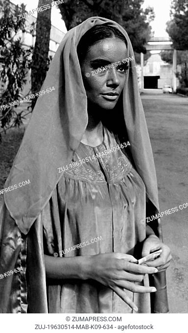 May 14, 1963 - Rome, Italy - The French actress, CLAUDINE AUGER, who plays important role in the film 'The misteries of India' actually at Cineceitta