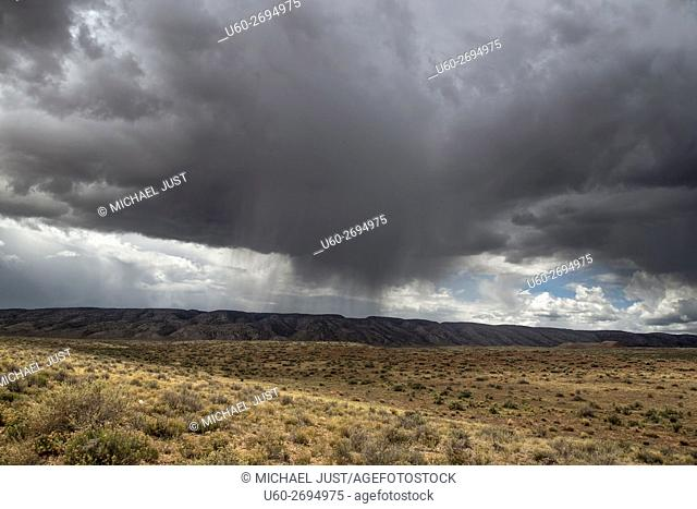 Storm clouds develop over the Northern Arizona landscape near Vemilion Cliffs National Monument