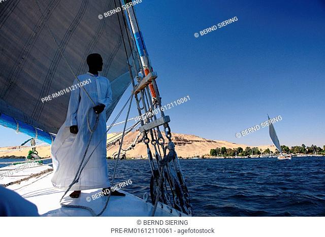 Felucca, Aswan, Egypt, Africa, North-Africa