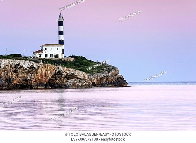 Porto Colom Lighthouse, 1861 Felanitx. Mallorca. Balearic Islands. Spain