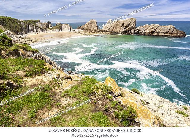 Arnia beach, Liencres, Cantabria, Spain