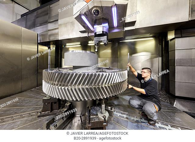 Gear. Machining Centre. CNC. Vertical lathe. Design, manufacture and installation of machine tools. Gipuzkoa, Basque Country, Spain, Europe