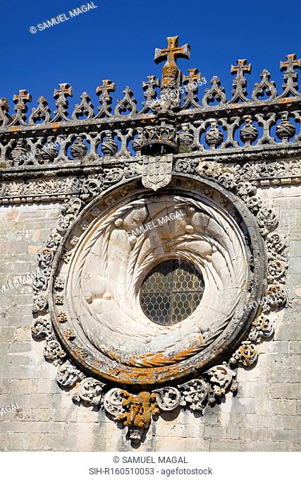 Tomar was founded in the 12th century as headquarters of the Knights Templar in Portugal transferred in the 14th century to the Knights of the Order of Christ