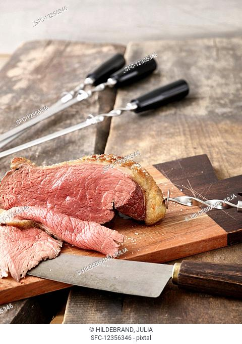 Picanha kebab (grilled, sliced beef, Brazil)