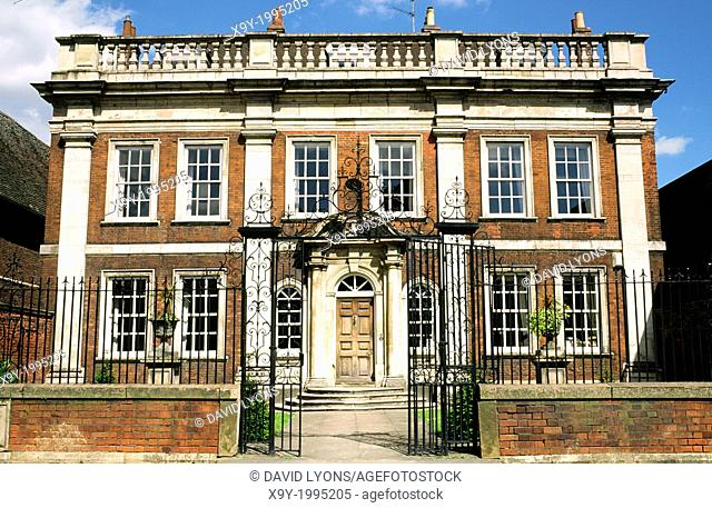 Fydell House, home of Thomas Fydell, in the centre of the Lincolnshire town of Boston, England, UK
